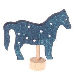 Grimms Stecker Pferd blau Deko Geburtstagsspirale