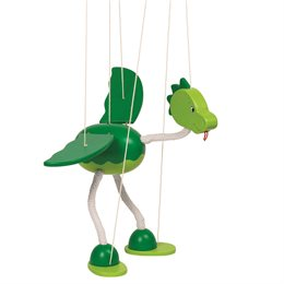 """Marionette für Kinder Dinosaurier """"Nepomuk"""""""
