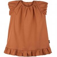 Leichtes Sommerkleid Popeline karamell-braun