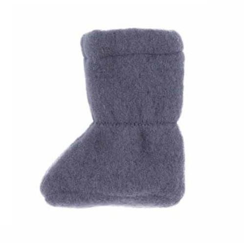 Warme Baby Schuhe aus Bio Schurwolle grau