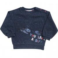 Sweatshirt Wale in dunkelblau mélange