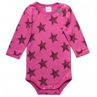 Pinkes Sternen Langarmbody
