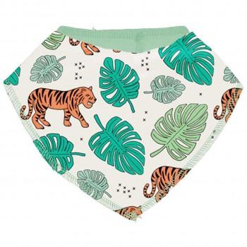 Leichtes Dreiecktuch Jungle Tiger in hellgrün