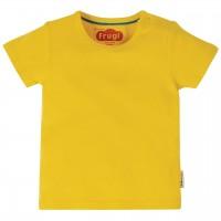 Robusten uni Shirt kurzarm in gelb