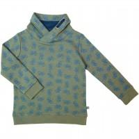 Sweat Pullover Fahrrad-Druck waldgrün