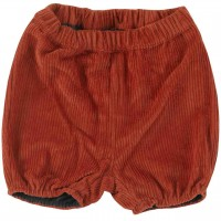 Weiche, lockere Cord Shorts orange