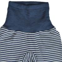 Vorschau: Mitwachsende Wolle Seide Hose blau gestreift Kratzschutz