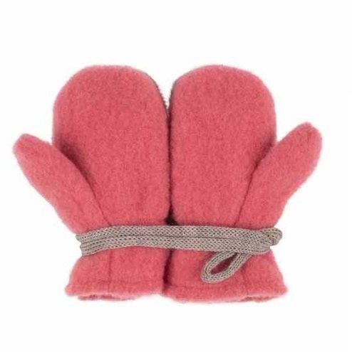 Bio Wolle Baby Handschuhe - altrosa