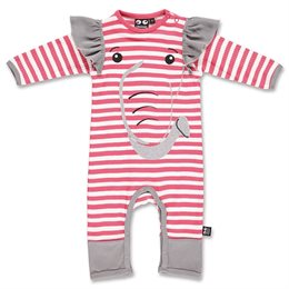 Cooler Elefanten Babystrampler rosa