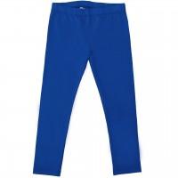 Elastische Uni Basic Leggings royal-blau