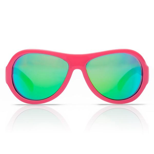 Kinder Sonnenbrille 3-7 bruchfest Blätter Print pink