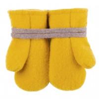 Woll Fleece Baby Fäustel gelb