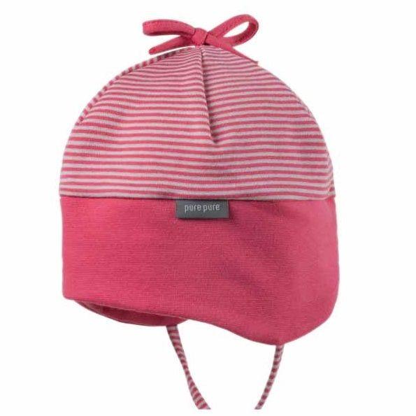Bio Babymütze für die Übergangszeit von pure pure - pink