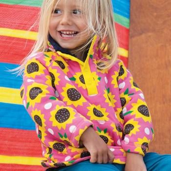 Plüsch Pullover Sonnenblumen in pink