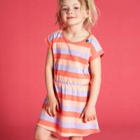 griffiges Kleidchen kurzarm Pastelltöne