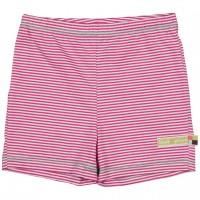 gestreifte leichte Shorts pink