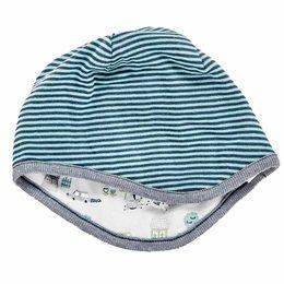 Wendemütze für Kleinkinder mit 2 Designs - blau