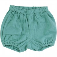 Luftige, lockere Musselin Shorts blau-grau