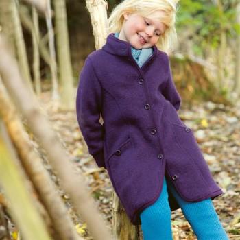 Wollmantel Übergangszeit hochwertig lila
