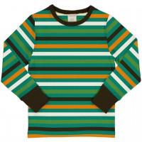 Streifen Shirt langarm Grün-/Gelbtöne