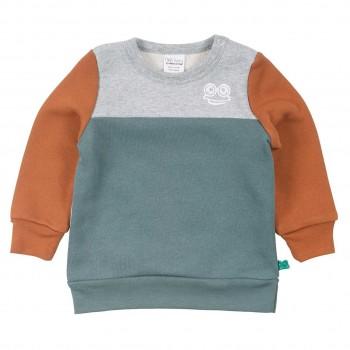 Sweatshirt mit Blockdesign und Print