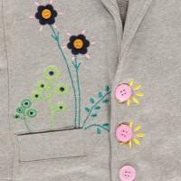 Vorschau: Tolle Sweatjacke für Mädchen Blume