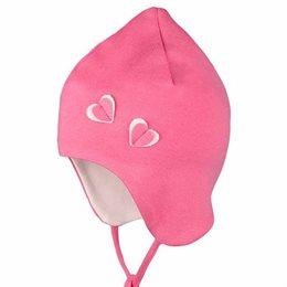 Leichte Babymütze Ohrenschutz Herzen