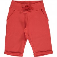 Rostrote Sweat Shorts knielang