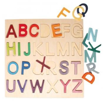 Holzbuchstaben Spiel, im Rahmen