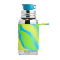 Edelstahl Flasche ab 3,5 Jahren Sportverschluss 550 ml grün