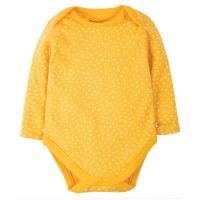 Bio Baby Body dicker gelb Punkte