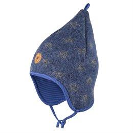 Warme Woll Mütze Sterne dunkelblau
