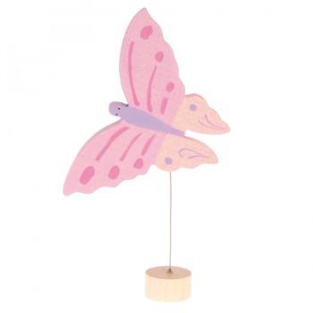 Grimms Stecker Schmetterling rosa Deko