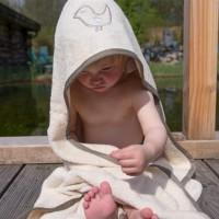 Großes Baby Kapuzentuch Badetuch 100x100 cm