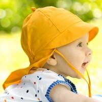 Sommermütze gelb Nackenschutz