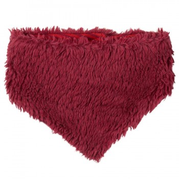 Plüschig weiches Halstuch für Babys zum Wenden rot