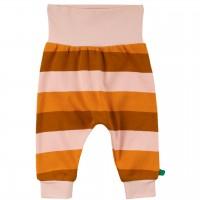 Krabbelhose im Block-Design in orange-braun-rosa
