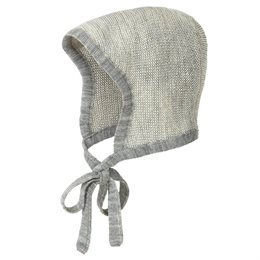 Baby Mütze Merinowolle atmungsaktiv grau