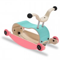 3in1 Rutschfahrzeug ab 9 Monate - Mini Flip blau/pink