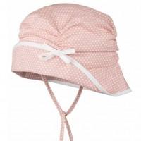 Mädchen Sommermütze mit Ohrenschutz pfirsich