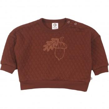 Gestepptes Sweatshirt mit Eichel rotbraun