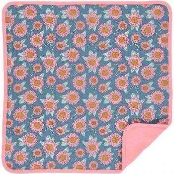 Wendedecke/Babydecke mit Sonnenblumenprint