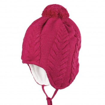 Weiche Wintermütze in schönen Himbeere-pink