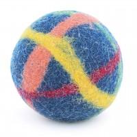Baby Filzball mit Glöckchen - mittelblau 9 cm