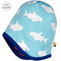 Wendemütze Ringel Haie dunkelblau