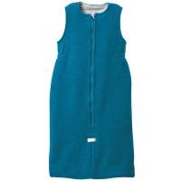Ganzjahres Schlafsack Schurwolle blau