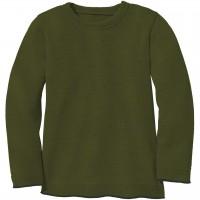 Strick Pullover in oliv-grün