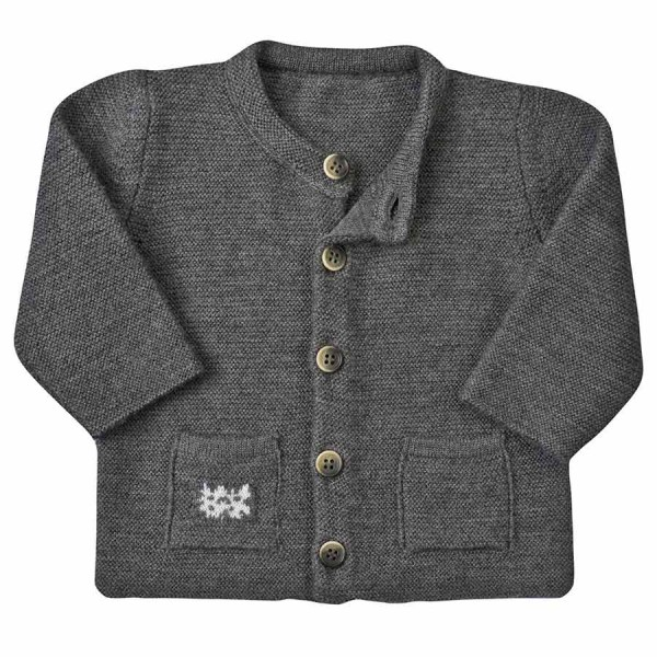 Strickjacke Wolle kbT grau