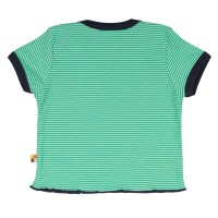 Vorschau: Loud and Proud Bio Shirt Ringel mit Geckos grün
