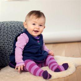 Bio Babystrumpfhose mit breitem Bund